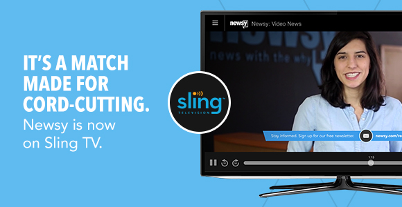 Newsy launches on Sling TV