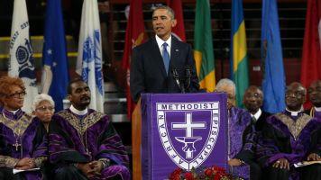 Obama Sings During Eulogy For Rev. Clementa Pinckney