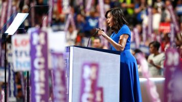 Michelle Obama speaks at the DNC.
