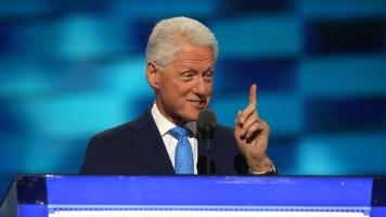 Bill Clinton speaks at the DNC.