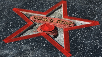 Someone Destroyed Donald Trump's Hollywood Star With A Sledgehammer