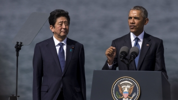 President Obama And Japanese Prime Minister Abe Visit Pearl Harbor