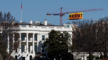 Greenpeace Activists Climbed A Crane To Deliver A Message To Trump