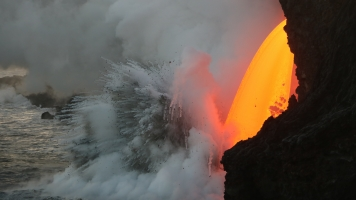 This Hawaiian Volcano Has Created A 'Firehose' Of Lava