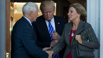 Pence Makes Historic Vote To OK Betsy DeVos For Education Secretary