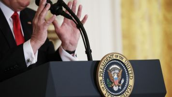 President Trump Gets A Live Fact-Check During Press Briefing