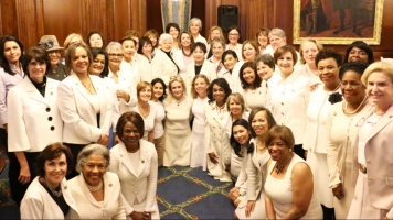 Why Some Female Lawmakers Decided To Wear White For Trump's Address
