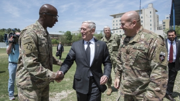 US Defense Secretary Mattis Makes A Stop In Afghanistan