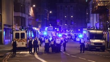 Police respond to an incident on London Bridge