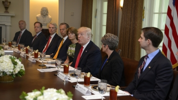 Trump Huddles With Senate Republicans To Discuss Health Care Bill