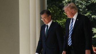 Trump Talks Trade, North Korea With South Korea's President