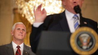 While Some Republicans Criticize, Mike Pence Says He Stands With Trump