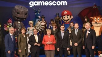 Angela Merkel Opens Bilateral Talks With Mario At Gaming Convention