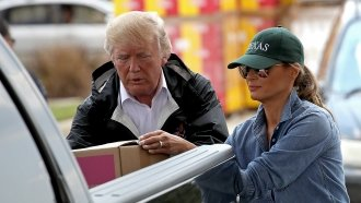 President Trump Makes Second Visit To Flooded Texas