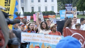 Protests Erupt Outside The White House After Trump Ends DACA