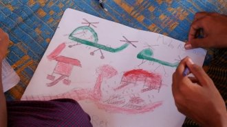 After Conflict And Violence, These Refugee Kids Draw What They Saw