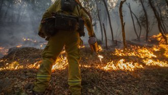 Northern California Firefighters Catch A Break As Winds Ease Up