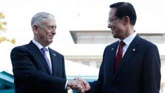 US Defense Secretary At DMZ: 'Our Goal Is Not War' With North Korea