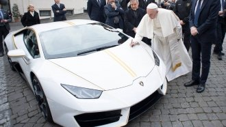 Forget The Popemobile — Pope Francis Just Got A Brand New Lamborghini