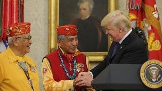 Trump Makes A 'Pocahontas' Joke During A Native American Veteran Event