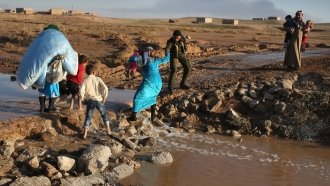 Thousands Displaced After Turkey Invades Kurdish Stronghold In Syria