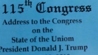 Ticket Typo Welcomes Guests To Trump's 'State Of The Uniom' Address