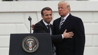 Macron Lobbies Trump To Keep US A Part Of Iran Nuclear Deal