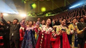 North Koreans watch concert featuring South Korean musicians