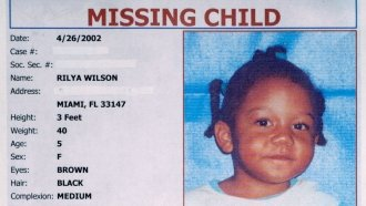 The missing child poster for 5-year-old Rilya Wilson