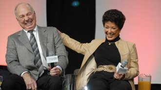 Former Green Bay Packers quarterback Bart Starr and his wife