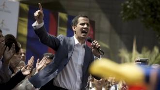 Venezuela's National Assembly president Juan Guaidó