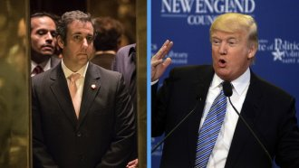 President Donald Trump and Michael Cohen