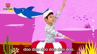 Boy dances to Baby Shark'