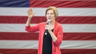 Sen. Elizabeth Warren speaks at an event