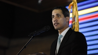 Opposition leader and self declared acting president of Venezuela Juan Guaido
