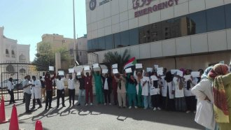 Medical community in Sudan protesting