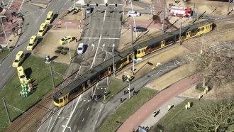 A tram in Utrecht