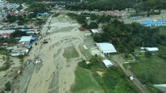 Area affected by floods in Indonesia