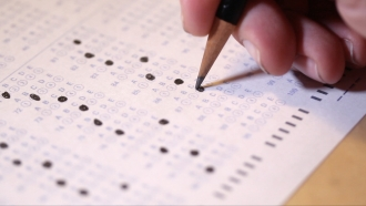 Scantron test paper