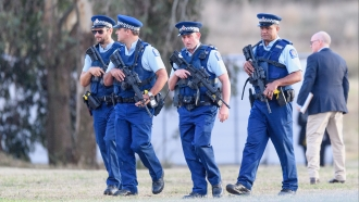 Police officers in New Zealand