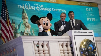 Disney CEO Bob Iger and Mickey Mouse