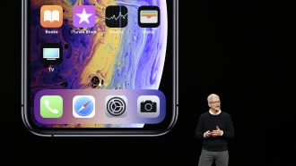 CEO Tim Cook at an Apple event