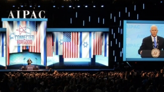 Vice President Mike Pence speaks at AIPAC conference