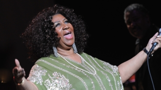 Aretha Franklin performs at The Fox Theatre in 2017.
