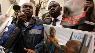 Protest against then-Sudanese President Omar al-Bashir