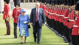 President Donald Trump and Queen Elizabeth II