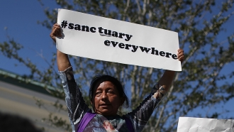 Pro-sanctuary policy demonstrator
