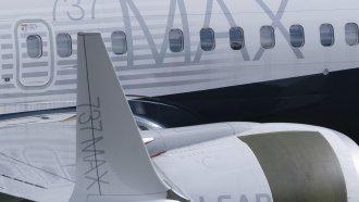 A 737 MAX airplane on a tarmac