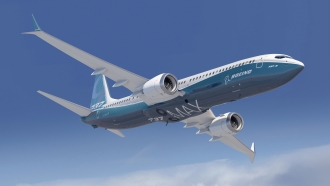 A Boeing 737 MAX airplane