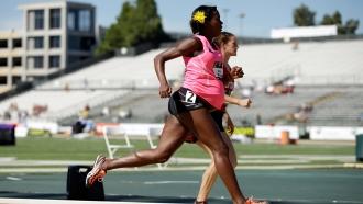 Alysia Montaño competes while pregnant